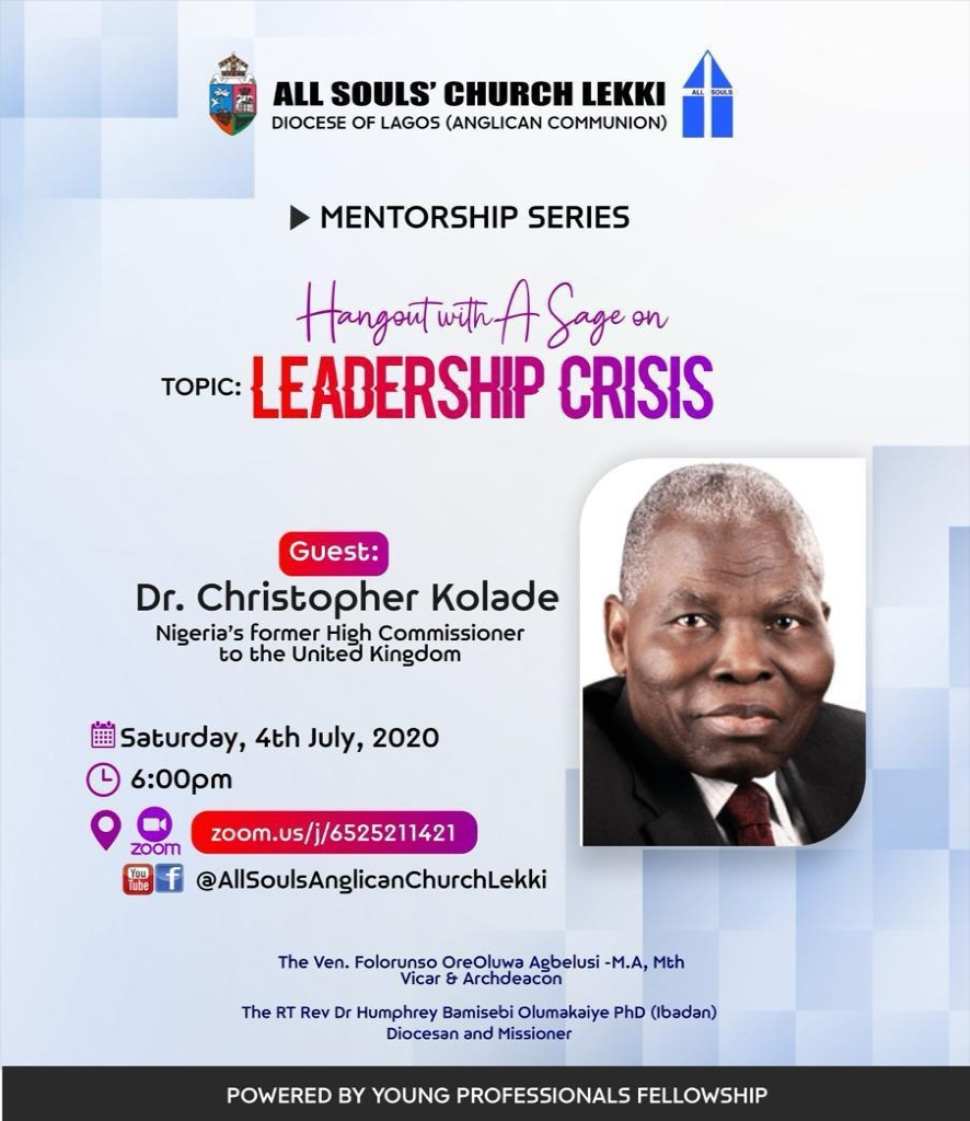 All Souls Church Lekki - Mentorship Series 4th July 2020