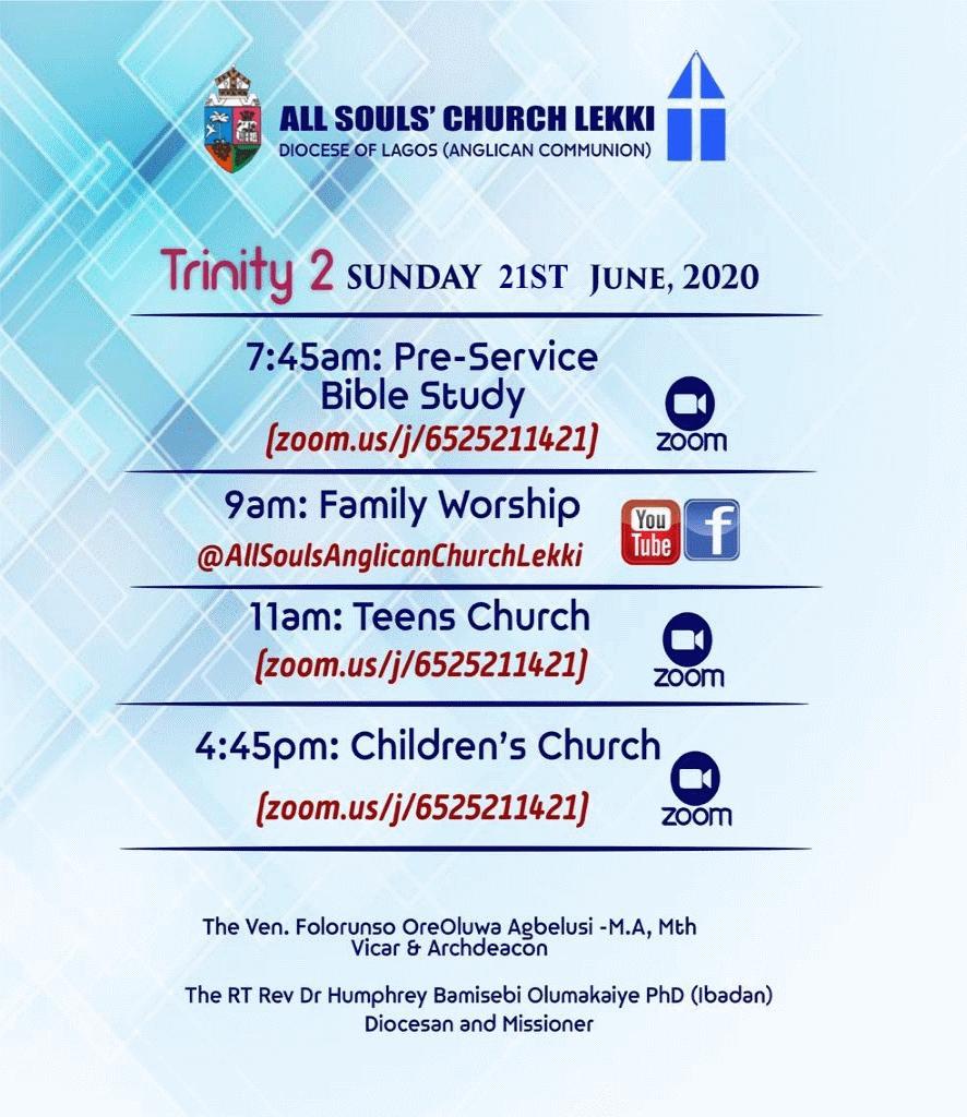 All Souls Church Lekki - Trinity 2 21st June 2020
